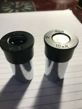 More details for pair of wild heerbrugg 10x magnification microscope eyepieces - 23mm dia fitting