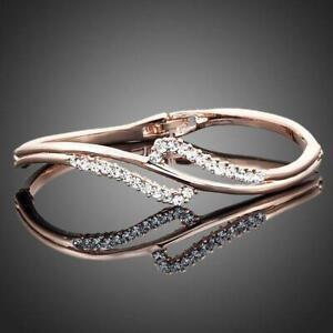 Gifts For Girls ROSE GOLD AUSTRIAN CRYSTAL BANGLE KHAISTA