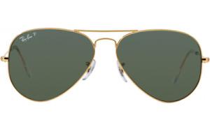 Ray Ban Sunglasses Aviator RB 3025 Gold Frame Lens 58mm New 58/14 G15 lens