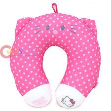 Sanrio Hello Kitty Neck Rest Pillow Travel Cushion Pink Polka Auto accesories