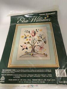 Elsa Williams THE GARDNER TREE Vtg Crewel Kit Jacobean Tree of Life Louise Chrim