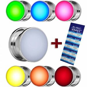 LED Tunnel Plug leuchtend blinkend Edelstahl rot grün blau weiss 8-16 mm