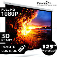 "125"" Inch Electric Motorised Projector Screen Home Theatre HD TV Projection 3D"