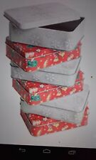 X7 christmas gift tin boxes box gift present favours homemade treats xmas sweet