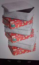 X10 regalo di Natale Tin Box Scatola Regalo Favori HOMEMADE considera Xmas SWEET