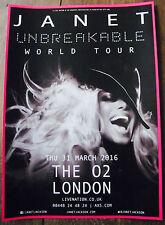 JANET JACKSON UNBREAKABLE WORLD TOUR 2016 LONDON A4 POSTER
