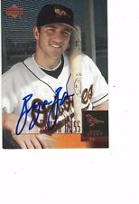 2001 Upper Deck Star Rookie Bryan Bass Baltimore Orioles Authentic Autograph COA