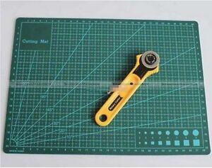 Leathercraft 28mm Rotary Cutter Blade + A4 Cutting Mat Kit  Quilting