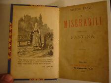 I MISERABILI  VICTOR HUGO  CARLO BARBINI EDITORE  1892  IN 5 VOLUMI