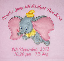 Disney Dumbo Luxury Personalised Applique Super Soft Fleece Blanket