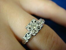 VINTAGE, 14K YELLOW & WHITE GOLD, DIAMOND ENGAGEMENT RING, APPROX. 0.25CT T.W.