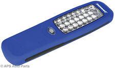 24 LED DA APPENDERE Lavoro di Ispezione Luce Flash Luminoso TORCIA AUTO OFFICINA MECCANICO
