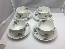 Haviland Wright Tyndale & Van Roden Tea cups and  saucers set of 4 limoges