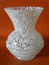 Vase en Verre Art Déco Clichy Couleur Blanche
