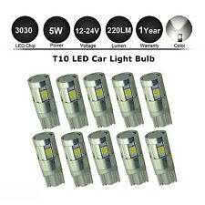 10x 12V/24V T10 194 168 W5W 3030 5 LED SMD White Car Side Wedge Light Lamp Bulbs