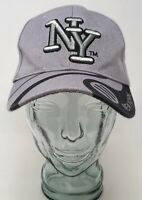 New York New York Baseball Cap Hat Cotton Gray Blue OSFM Strap Back