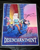 DISENCHANTMENT 4x HAND SIGNED Billy West Eric Andre Nat Faxon, Maurice + Proof