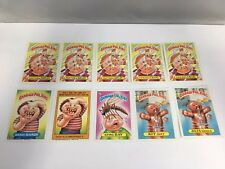 Vintage Garbage Pail Kids Card Set of 10 1986 Cards 5th Series with Multiples