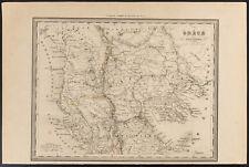 1840 - Carte ancienne de la Grèce ancienne (Dufour Picquet) map ancient greece
