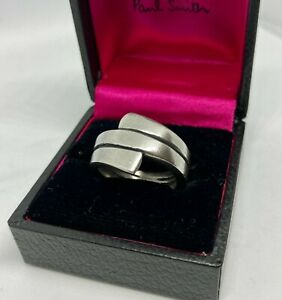 Paul Smith SILVER SILVER CHUNKY RING Size P Boxed