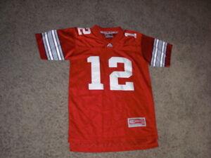 OHIO STATE BUCKEYES #12 fully sewn Football Jersey youth medium
