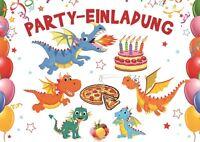 Lustiges Drachen-Einladungskarten-Set zum Kindergeburtstag 4 - 25 St.