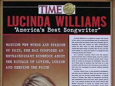 LUCINDA WILLIAMS '02 TIME SONGWRITER AWARD PROMO POSTER ORIGINAL