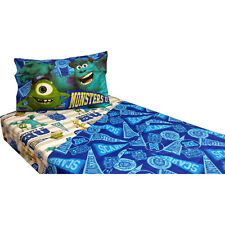 DISNEY MONSTERS INC SULLEY MIKE CHILDREN TWIN 3PC SHEET BEDDING BED SET NWT