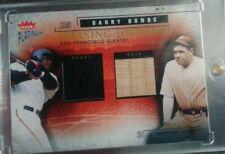2003 Fleer Platinum Babe Ruth Bat Barry Bonds Jersey Chasing History 129/250