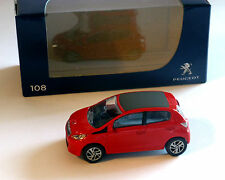 Peugeot 108, rosso, NOREV, 1:64