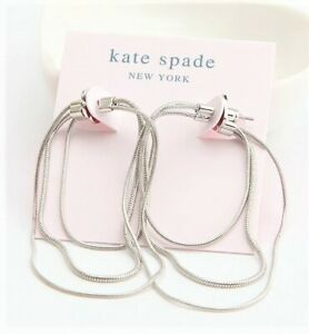 Kate Spade Know The Ropes Large Snake Chain Hoop Earrings