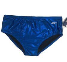 Dolfin Metallic Blue Mens Swim Brief Bathing Suit Size 38