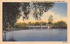 Park Rapids Minnesota Bridge Over The Fishhook River Postcard 1957