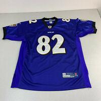 Reebok On Field Baltimore Ravens Jersey #82 Torrey Smith 48 SEWN Purple