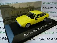 SIM28F Voiture 1/43 IXO altaya Voitures d'autrefois Matra simca Bagheera 1973