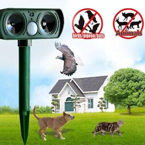 Ultraschall Solar Tiervertreiber Vogelschreck Katzen Hund Repeller Gartenschutz