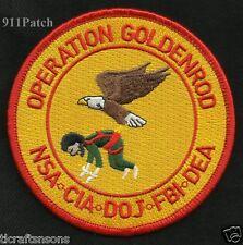 OPERATION GOLDENROD NSA CIA DOJ FBI DEA POLICE PATCH