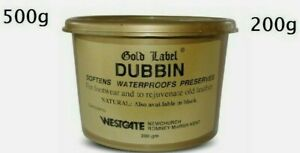Gold Label Dubbin Leather Natural 200g and 500g