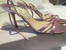 GENUINE Jimmy Choo Pink Metallic Heels Size 40.5