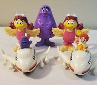 Vintage 1991-1995 McDonalds Figure Lot - Ronald McDonald, Grimace, Birdie - RARE