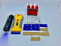 Glass Furniture Repair Kit, 30g UV Glue, Squeezable Bottle, Zoomable UV Torch