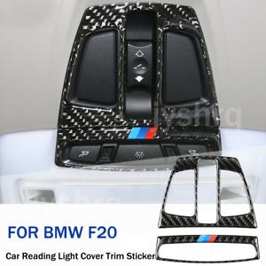 For BMW X1 X5 X6 F20 F30 F32 Carbon Fiber Car Reading Light Cover Sticker Trim