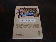2000-01 Fleer---Philadelphia 76ers---Stadium Giveaway---Complete Set 1-7---XHTF