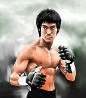 BRUCE LEE Hand Painted Portrait Art Oil Painting On Canvas  a#31 No Frame