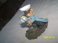 Teddy Bear Sailor Globe Figure 4 x 3