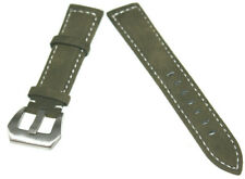 Uhrenarmband Echt Leder Edelstahl Dornschließe 22mm Neu Nr.080