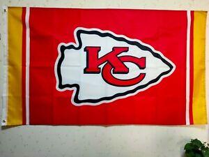 Kansas City Chiefs Flag 3X5 FT NFL Banner Polyester