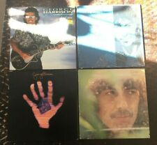4 George Harrison Records Living Material World, Self Titled Best of Dark Horse