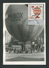 Bulgaria Mk 1969 Aviation Balloon maximum tarjeta Carte maximum card mc cm c9213