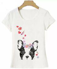 Boston Terrier French Bulldog ladies yoga t-shirt blouse new 4 sizes FREE SHIP